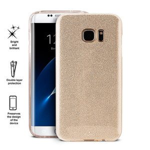 PURO Glitter Shine Cover - Etui Samsung Galaxy S7 edge (Gold)